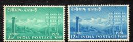 Y329 - INDIA 1953, Yvert N. 46/47  ***  MNH  (2380A)  Telegrafo - Nuovi