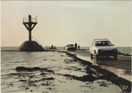 F85-083 ÎLE DE NOIRMOUTIER - CONTRE JOUR SUR LE GOIS, VOITURES ET PIÉTONS SUR LE RETOUR - Ile De Noirmoutier