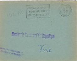 MONLPELLIER CENTALISATEUR SECAP 1957 DREYFUSS (MON655) En 1994 Côte 10F DEVANT SEUL GROTTE DES DEMOISELLES - Oblitérations Mécaniques (flammes)