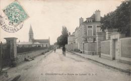 91 Champrosay Draveil Route De Corbeil Cachet 1905 - Draveil