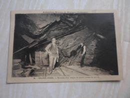 CPA ANIMEE - GRANDE FOSSE - ARDOISIERES REUNIES DE RIMOGNE - Mines