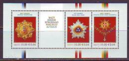 Estland 2008.The Highest State Award Of The Baltic Countries. Bl. MNH. Pf. - Estland