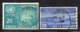 Y358 - INDIA 1954, Yvert N. 52+53  Usati  (2380A) - 1950-59 Repubblica