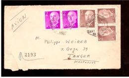 España. Sobre Sellado. Sello. Matasellos Hexagonal 1967. Madrid. Tanger. - 1931-Hoy: 2ª República - ... Juan Carlos I