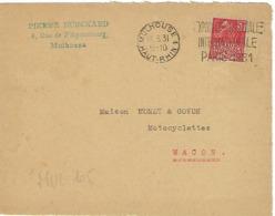 MULHOUSE SYLBE ET PONDORF 1931 DREYFUSS (MUL105) En 1994 Côte 350F DEVANT SEUL EXPOSITION COLONIALE PARIS 1931 - Storia Postale