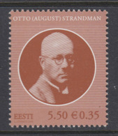 Estland 2008. Otto (August) Strandman. MNH. Pf. - Estland