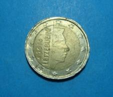 LUXEMBOURG 2 Euro 2010, FORGERY, FAKE, DIFFERENT METAL, EDGES UNCLEAR, VERY RARE - Variétés Et Curiosités