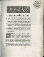 1704 -Edit Du Roi Louis XIV Pour Création De 40 Conseillers Secrétaires -Cach. PET. PAP. EXTRAO. 1 Sol + 4 Den. La Feuil - Decrees & Laws
