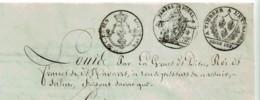 1816 - Manuscrit - Echange De Terres - 2 Pages 24,5 X 18,5cm - Timbre Royal 75ct + A Timbrer à L'Extraord. + 50ct En Sus - Historical Documents