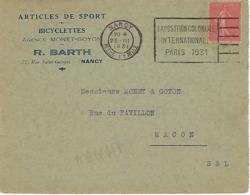 NANCY FLIER 1931 DREYFUSS (NAN117) En 1994 Côte 40F DEVANT SEUL EXPOSITION COLONIALE INTERNATIONALE PARIS 1931 - Oblitérations Mécaniques (flammes)