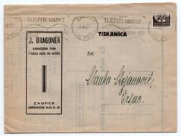 1937 YUGOSLAVIA, CROATIA, ZAGREB, J.DRAGONER, CITRUS FRUIT WHOLESALER, PRICE LIST, SENT TO VRSAC - Food