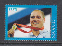 Estland 2008. Gerd Kanter, Olympic Gold Medallist. MNH. Pf. - Estland