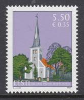 Estland 2008. Church Of The Holy Cross Of Audru. MNH. Pf. - Estland