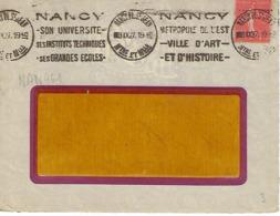 NANCY PL ST JEAN KRAG 1927 DREYFUSS (NAN461) En 1994 Côte 80F DEVANT SEULUNIVERSITE INSTITUTS TECHNIQUES ART HISTOIRE - Oblitérations Mécaniques (flammes)