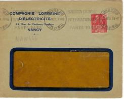 NANCY PL ST JEAN KRAG 1931 DREYFUSS (NAN466) En 1994 Côte 60F DEVANT SEUL EXPOSITION COLONIALE INTERNATIONALE PARIS 1931 - Oblitérations Mécaniques (flammes)
