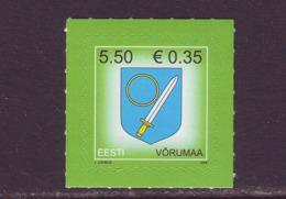 Estland 2008. Arms Of Võru County. MNH. Pf. - Estland