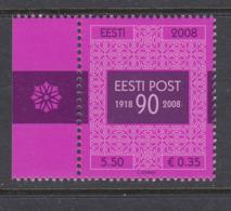 Estland 2008. The 90th Anniversary Of Estonian Post. MNH. Pf. - Estland