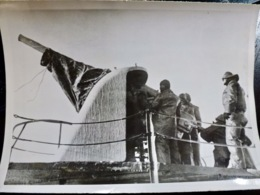PHOTO Presse WW2 WWII : CANON KRIEGSMARINE _ MER DE L'EST _ 26.2.1940 - Oorlog, Militair