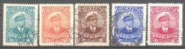 Yougoslavie; Yvert N° 290/294 - Gebraucht