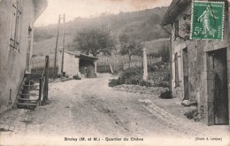 54 Bruley Quartier Du Chene Cpa Cachet Bruley 1909 - Francia