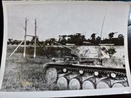 PHOTO Presse WW2 WWII : Char PANZER En PROTECTION Du CONVOI Contre CHARS RUSSES _ 21.7.1941 - Oorlog, Militair