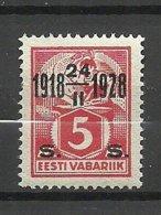 Estland Estonie Estonia 1928 Michel 69 MNH - Estland