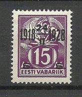 Estland Estonie Estonia 1928 Michel 71 MNH - Estland