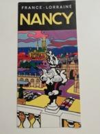 FRANCE / NANCY LORRAINE BEAU DÉPLIANT TOURISTIQUE 1971 - Dépliants Touristiques