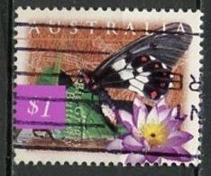 Australie - Australia 1997 Y&T N°1590 - Michel N°1632 (o) - 1$ Papillon - 1990-99 Elizabeth II