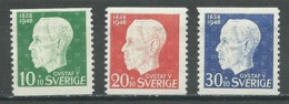 Suède YT N°344/346 Roi Gustave V Neuf/charnière * - Nuovi