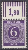 AllBes. GemAusg.  916 C W OR, Postfrisch **, Mit Oberrand, Kontrollratsausgabe I, 1946 - Amerikaanse, Britse-en Russische Zone