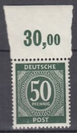 AllBes. GemAusg.  932 A P OR Ndgz, Postfrisch **, Mit Oberrand, Kontrollratsausgabe I, 1946 - Amerikaanse, Britse-en Russische Zone