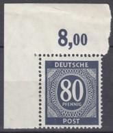 AllBes. GemAusg.  935 C P OR Ndgz, Postfrisch **, Mit Oberrandecke, Kontrollratsausgabe I, 1946 - Zone AAS