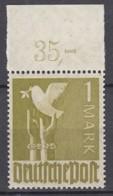 AllBes. GemAusg.  959 A P OR Ndgz, Postfrisch **, Mit Oberrand, Kontrollratsausgabe II, 1947 - Zone AAS