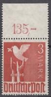 AllBes. GemAusg.  961 P OR Dgz, Postfrisch **, Mit Oberrand, Kontrollratsausgabe II, 1947 - Amerikaanse, Britse-en Russische Zone
