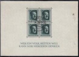 DR Block 7, Gestempelt, 48. Geburtstag AHs, 1937 - Blocks & Kleinbögen
