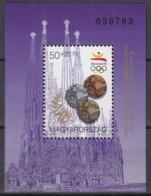 UNGARN  Block  222, Postfrisch **, Medaillengewinne Bei Den Olympischen Sommerspielen In Barcelona 1992 - Blocchi & Foglietti
