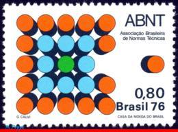 Ref. BR-1492 BRAZIL 1976 SCIENCE, ABNT, BRAZILIAN BUREAU OF, STANDARDS, MI# 1577, MNH 1V Sc# 1492 - Physik