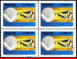 Ref. BR-2388-Q BRAZIL 1992 FREEMASONRY, 'GRANDE ORIENTE', MASONIC, SQUARE, MASONRY, MI# 2495, BLOCK MNH 4V Sc# 2388 - Franc-Maçonnerie