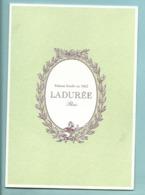 Carte Carnet Double Patissier Traiteur LADUREE Paris - Liste Des Boutiques Au Recto - Cartoncini Da Visita