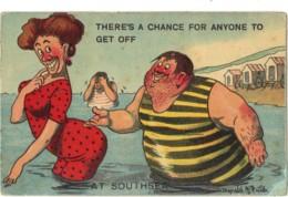 Comic - Artist Drawn Donald McGill, Pun AJ No 326 Seaside, Southsea - Comics