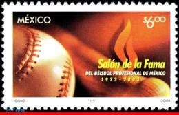 Ref. MX-2318 MEXICO 2003 SPORTS, BASEBALL HALL OF FAME,, 30TH ANNIV., MI# 3030, MNH 1V Sc# 2318 - Baseball