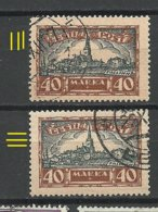Estland Estonia 1927 Michel 67 Horizontally + Vertically Striped Paper O - Estland