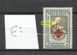 Estland Estonia 1922 Michel 30 A ERROR Abart = Shifted Center Print MNH - Estland