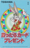 Télécarte Japon / 110-016 - BD COMICS - LAPIN BUGS BUNNY * TOSHIBA * - RABBIT Warner Bros Japan Phonecard - 106 - Comics