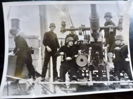 PHOTO Presse WW2 WWII : ARTILLERIE Sur MINENSUCHBOOT _ 11.2.1941 - Oorlog, Militair