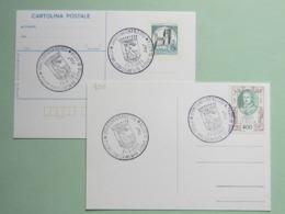 Stemmi, Carignano, 25-9-83, Annullo Speciale 3°centenario Titolo Città Su Cart. Postale E Cart. Illustrata, Cane - Covers