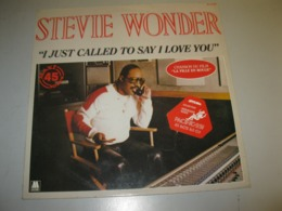 """STEVIE WONDER """"I JUST CALLED TO SAY I LOVE YOU"""" MAXI 45 T MOTOWN / RCA (1984) - 45 G - Maxi-Single"""