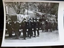 PHOTO Presse WW2 WWII : FUNERAILLES _ Werner LUPS à DUSSELDORF - Oorlog, Militair