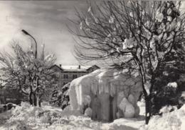 ASIAGO-VICENZA-FONTANA DI GHIACCIO IN PIAZZA CARLI-CARTOLINA VERA FOTOGRAFIA-VIAGGIATA IL 6-1-1966 - Vicenza